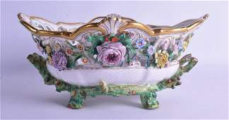 A LARGE 19TH CENTURY GERMAN TWIN HANDLED PORCELAIN