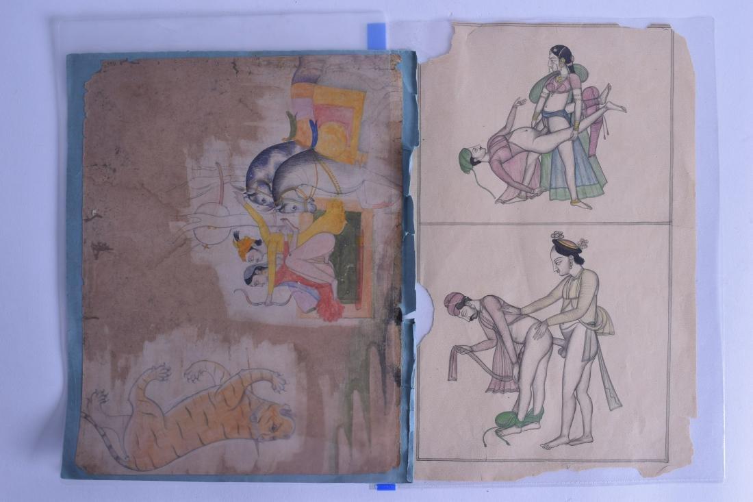 A GOOD 17TH CENTURY INDIAN JAIPUR SCHOOL WATERCOLOUR