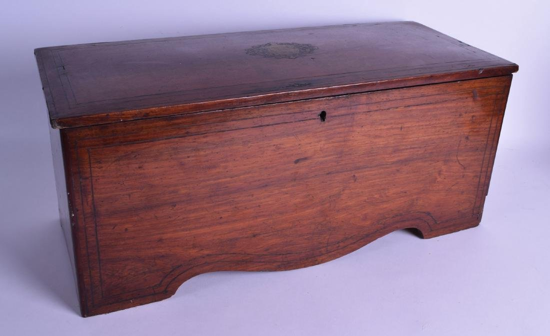 A LARGE 19TH CENTURY SWISS MUSICAL BOX playing 8 airs,