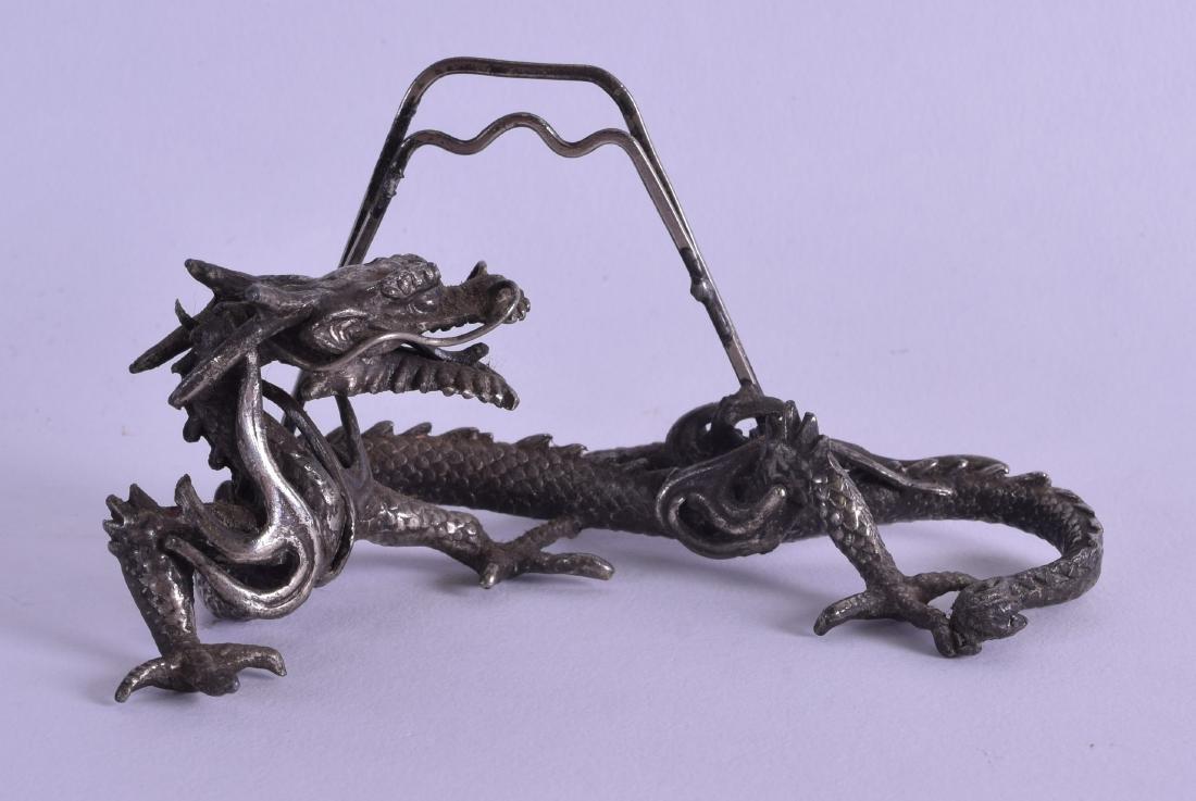 A 19TH CENTURY JAPANESE MEIJI PERIOD SILVERED BRONZE
