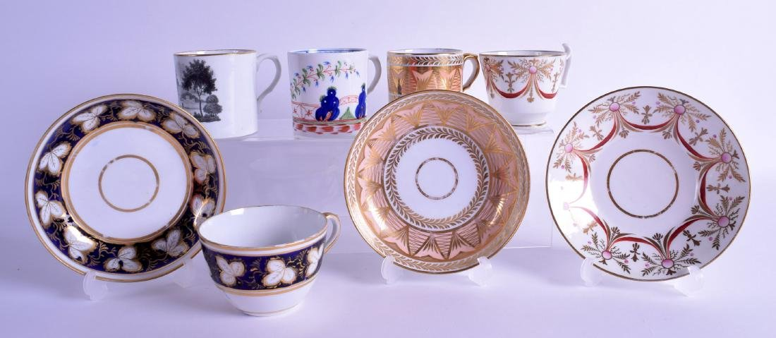 Early 19th c. Herculaneum coffee can and saucer with