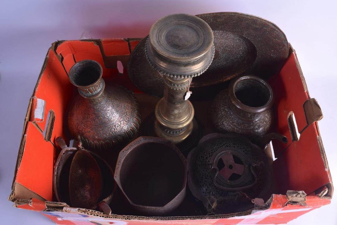 A GOOD COLLECTION OF 19TH CENTURY INDIAN MIXED METAL
