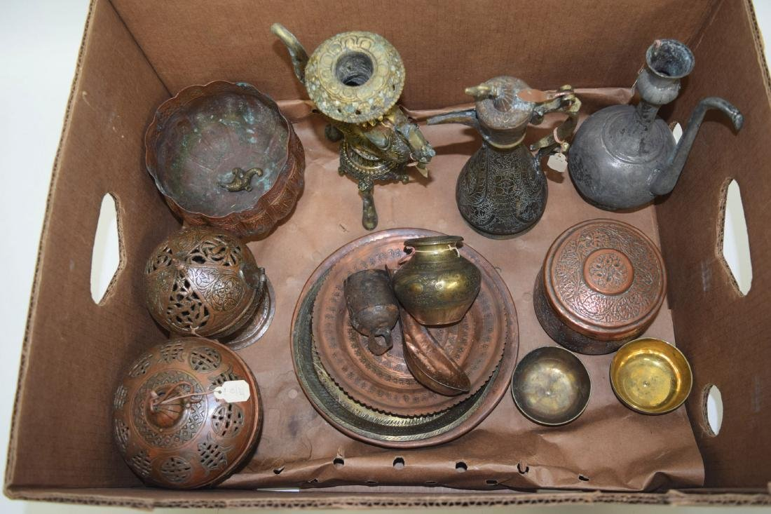 A GOOD COLLECTION OF 19TH CENTURY INDIAN MIXED METAL - 2