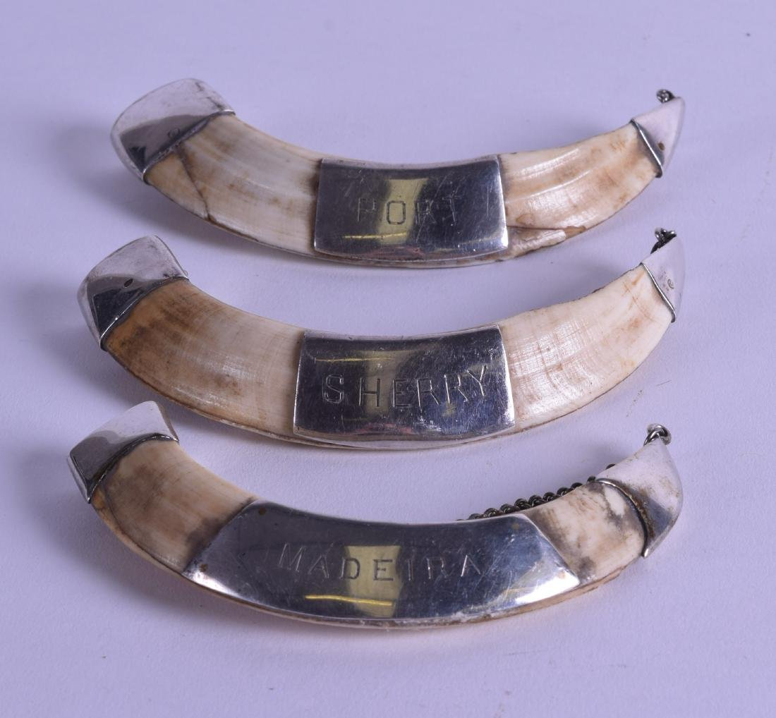 AN UNUSUAL SET OF THREE LATE VICTORIAN SILVER MOUNTED