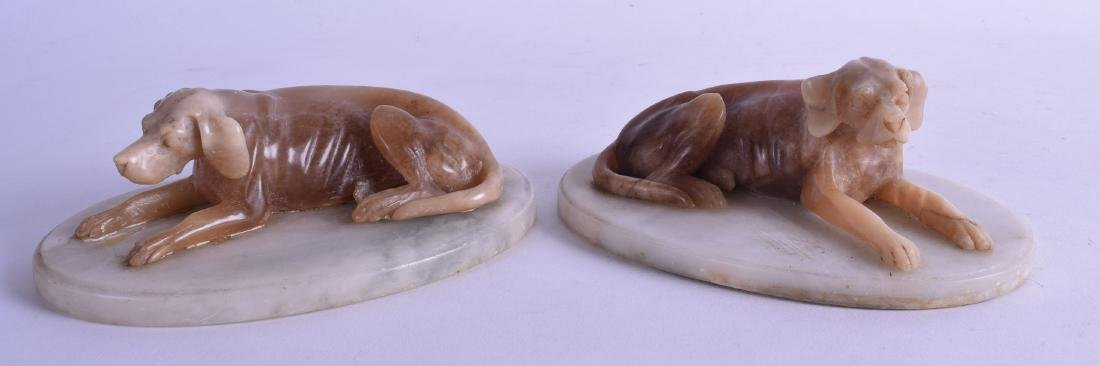 A PAIR OF LATE 19TH/20TH CENTURY EUROPEAN ALABASTER