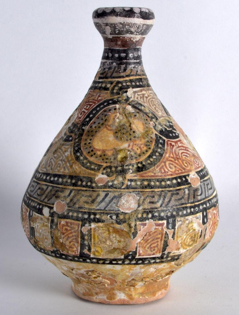 A Good 12th Century Central Asian pottery vase, painted