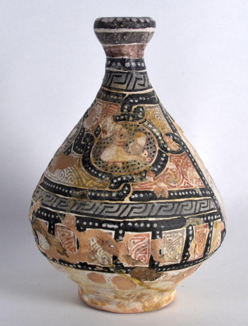 A Good 12th Century Central Asian pottery vase, painted - 2