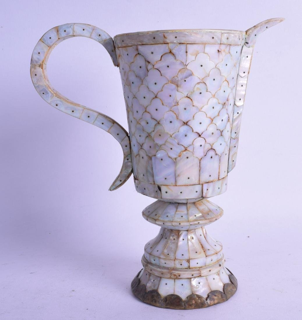 A RARE INDIAN GOA MOTHER OF PEARL EWER Gujarat, with