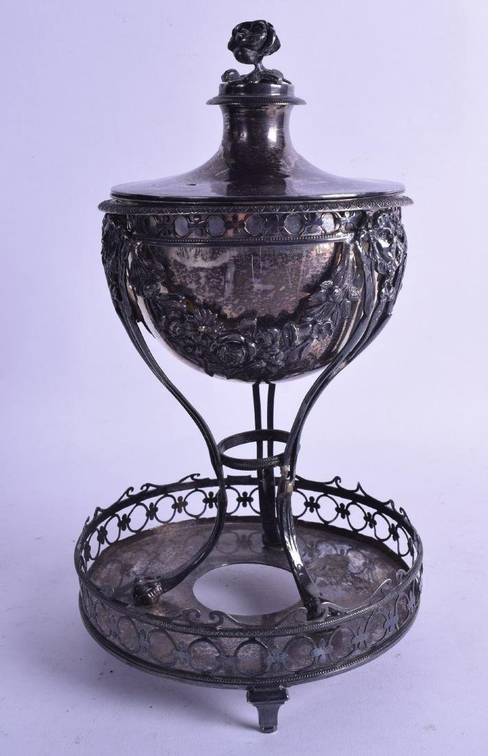 AN UNUSUAL 19TH CENTURY CONTINENTAL SILVER BOWL AND