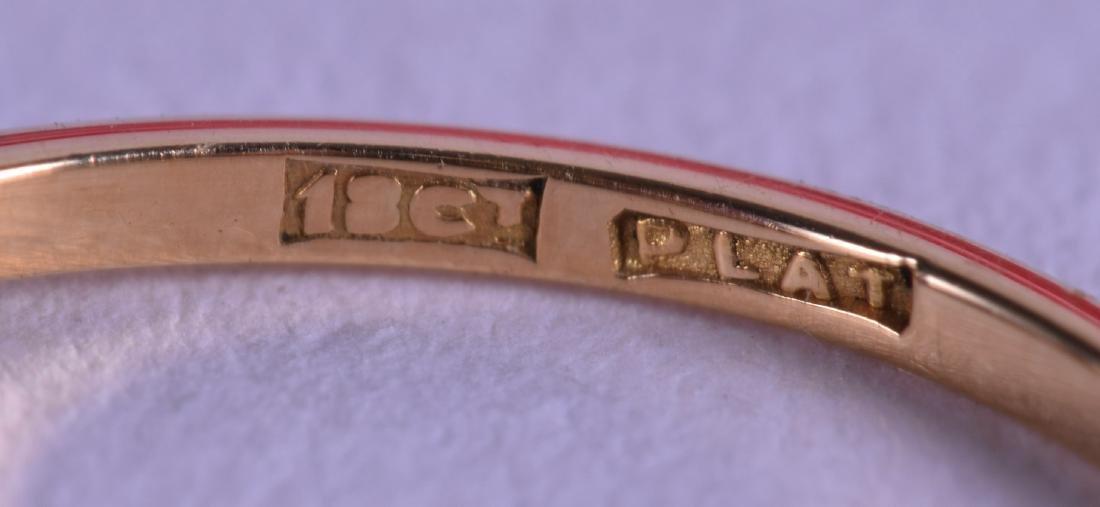 AN 18CT WHITE GOLD THREE STONE DIAMOND RING. - 2