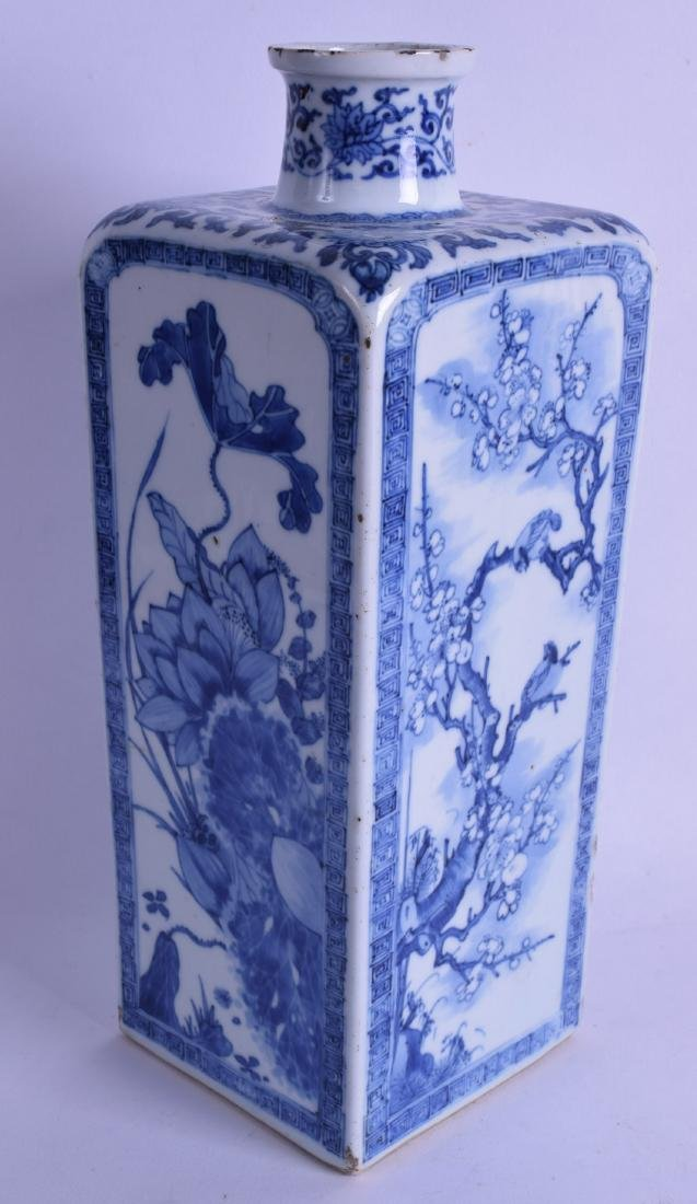 A FINE 17TH/18TH CENTURY CHINESE BLUE AND WHITE SQUARE - 2
