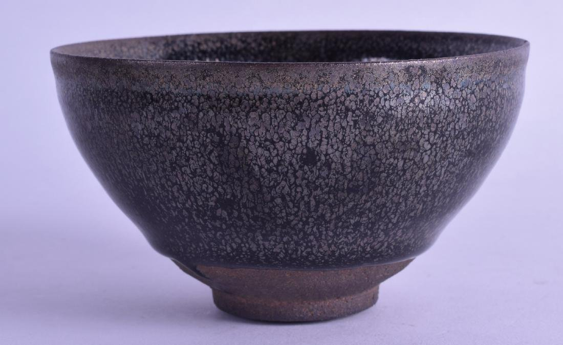 A CHINESE HARES FOOT TYPE STONEWARE BOWL with