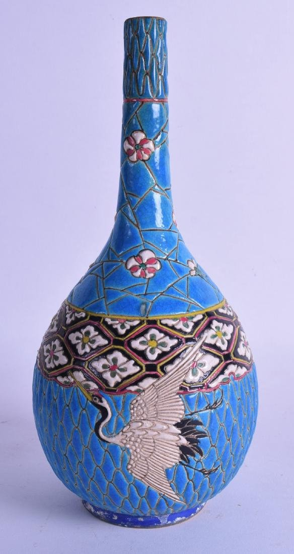 A LATE 19TH CENTURY JAPANESE MEIJI PERIOD BULBOUS VASE