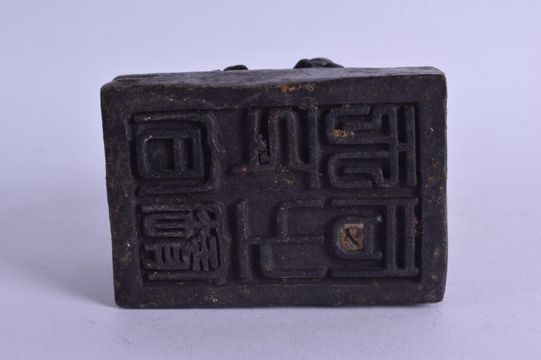 A CHINESE BRONZE SEAL in the form of a recumbent - 3