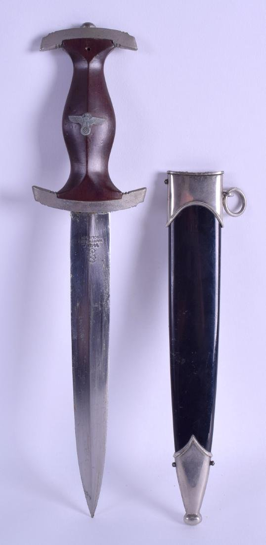 A GERMAN SOLINGEN DAGGER within a steel lacquered