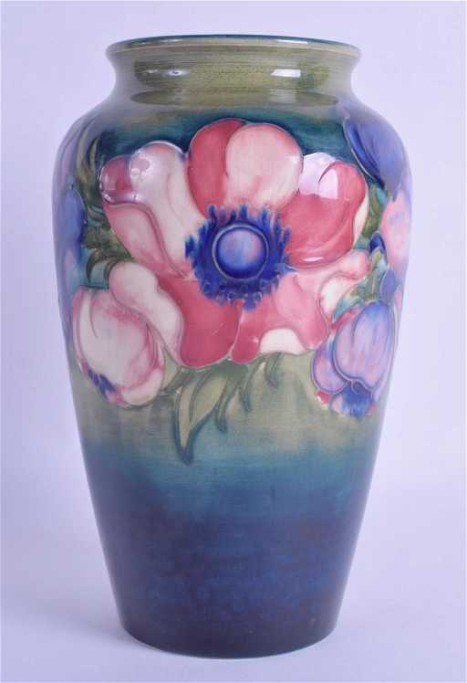 An Antique William Moorcroft Vase Painted With Floral