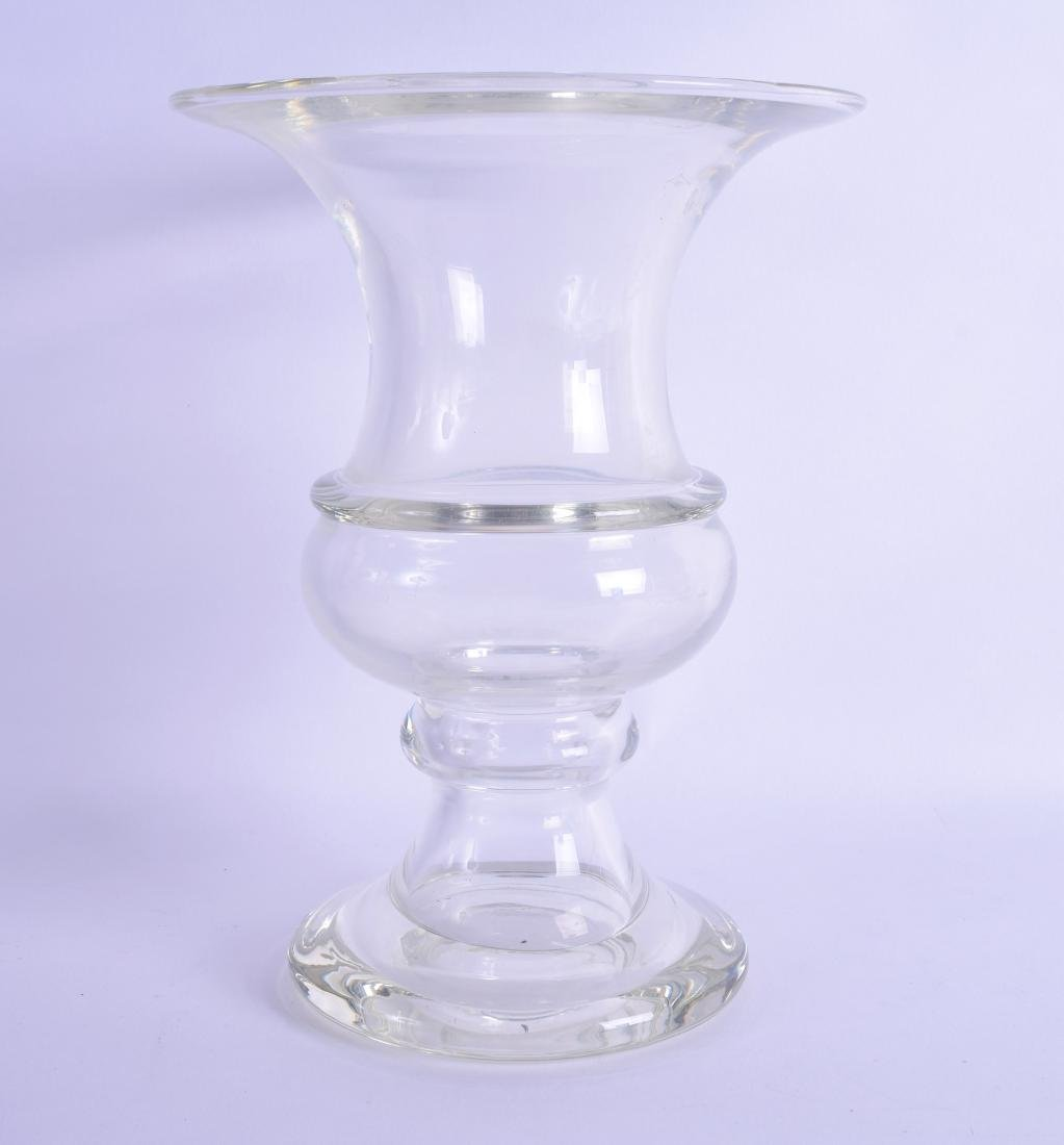 A LATE 18TH/19TH CENTURY CELERY GLASS with ribbed body.