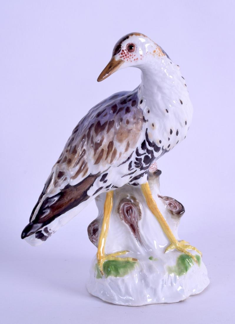 A 19TH CENTURY MEISSEN PORCELAIN FIGURE OF A BIRD