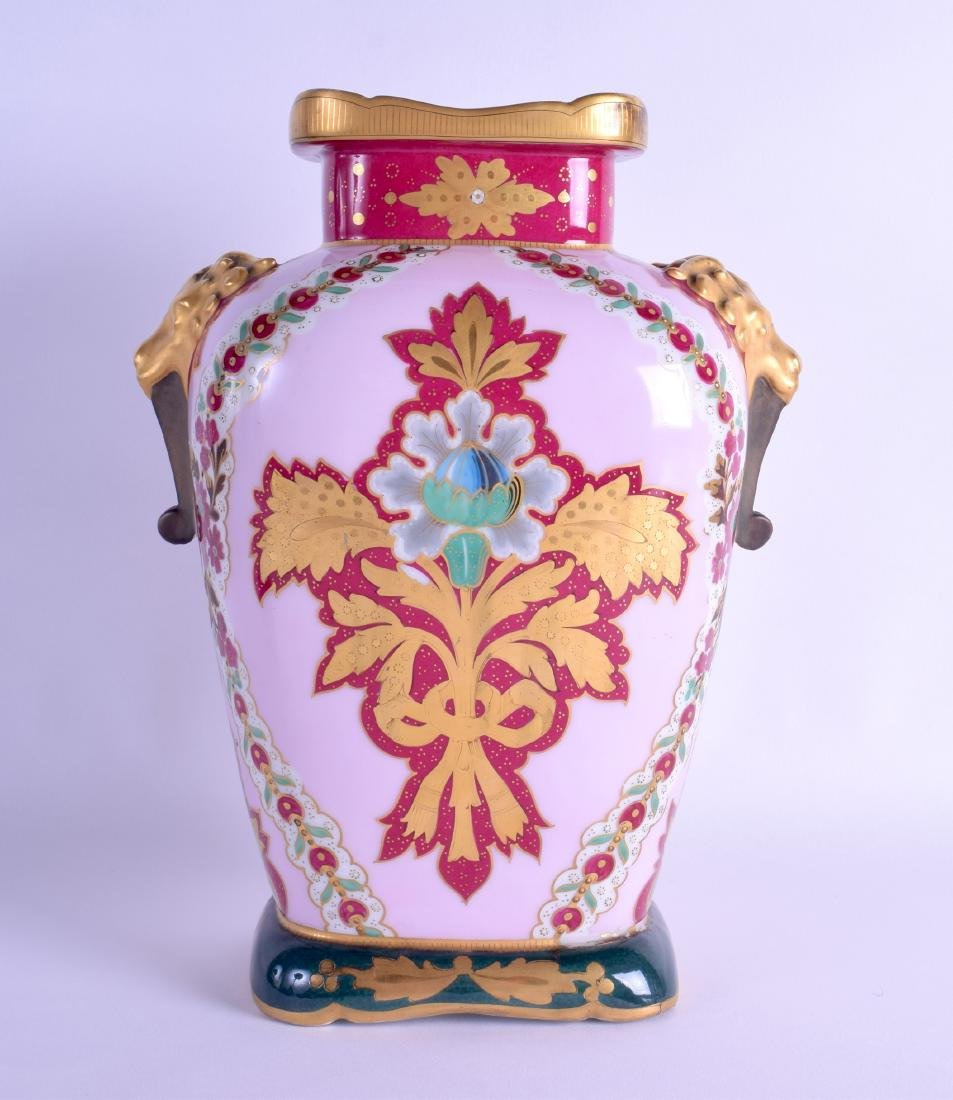A 19TH CENTURY FRENCH PARIS PORCELAIN VASE painted with