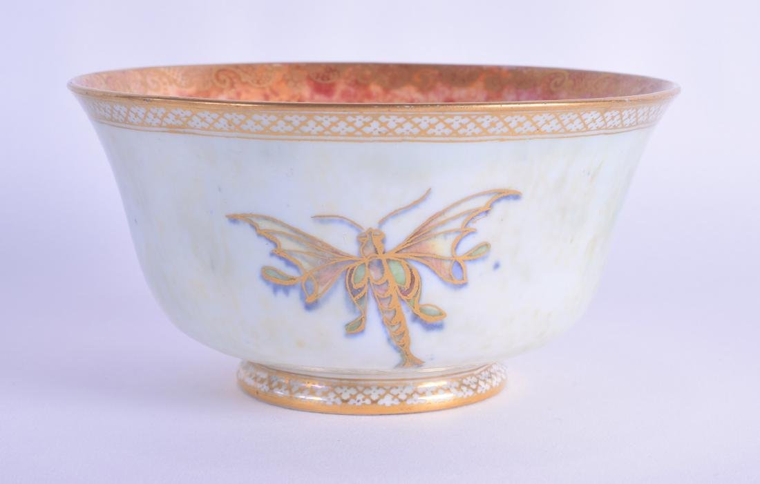 A WEDGWOOD FAIRYLAND LUSTRE TYPE BOWL painted with