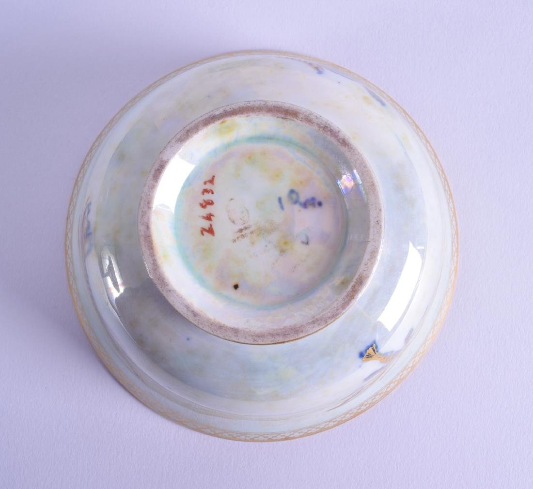 A WEDGWOOD FAIRYLAND LUSTRE TYPE BOWL painted with - 3