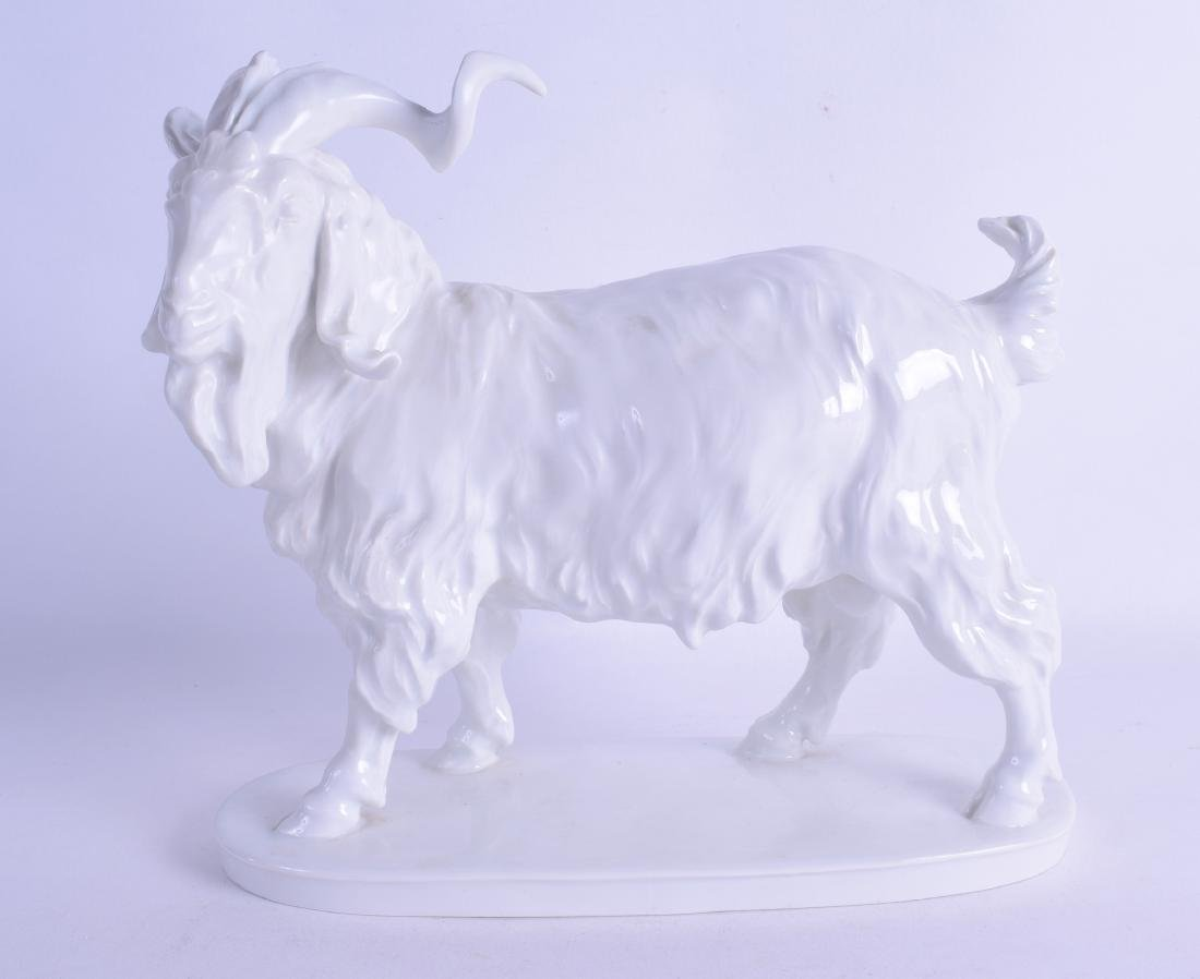 A 19TH CENTURY MEISSEN PORCELAIN FIGURE OF A BILLY GOAT
