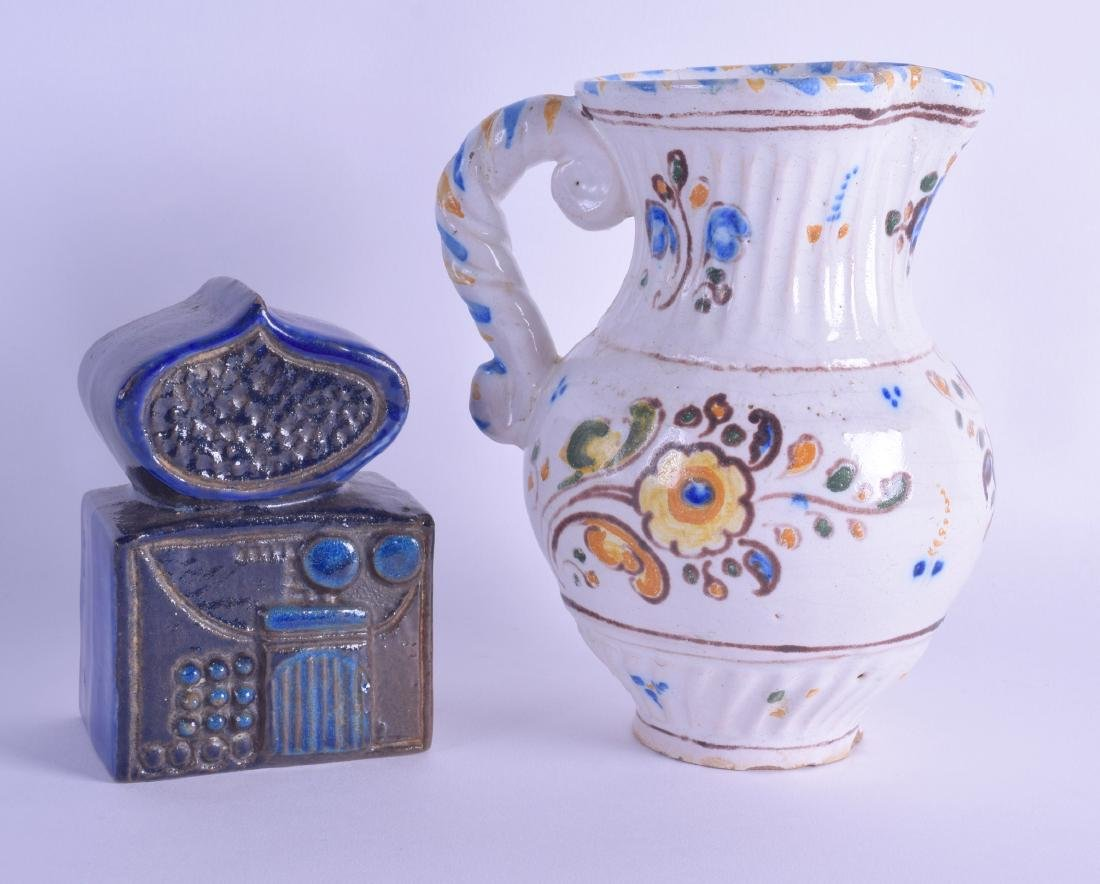 A STYLISH GUSTAVSBURG POTTERY SCULPTURE together with a