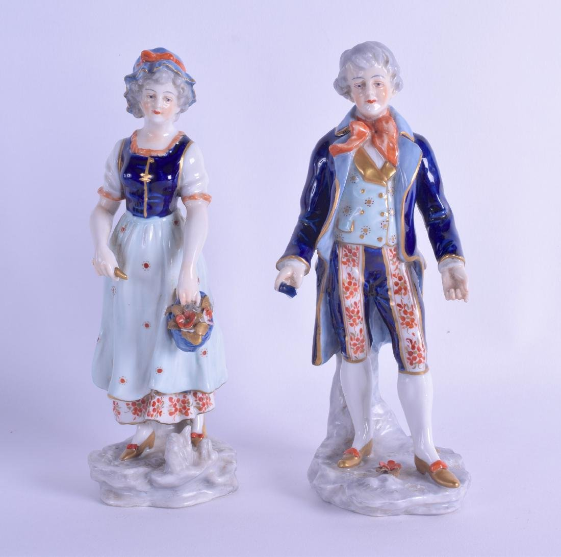 A PAIR OF EARLY 20TH CENTURY ITALIAN NAPLES PORCELAIN