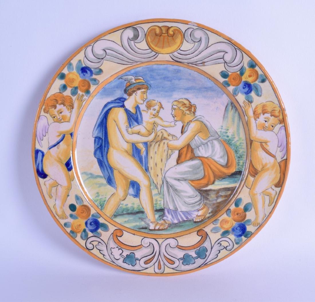 A LATE 19TH CENTURY ITALIAN FAIENCE MAJOLICA PLATE