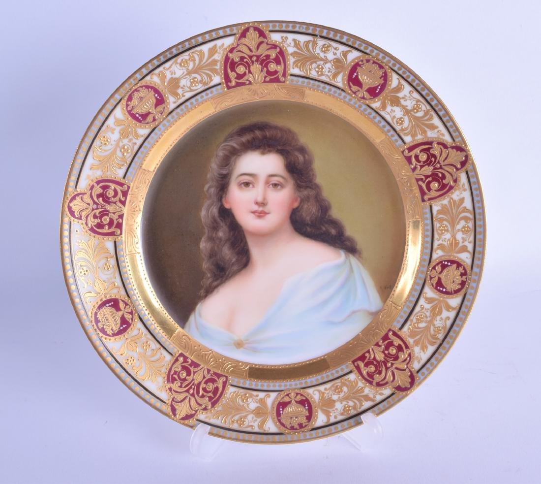 A LATE 19TH CENTURY AUSTRIAN VIENNA PORCELAIN CABINET