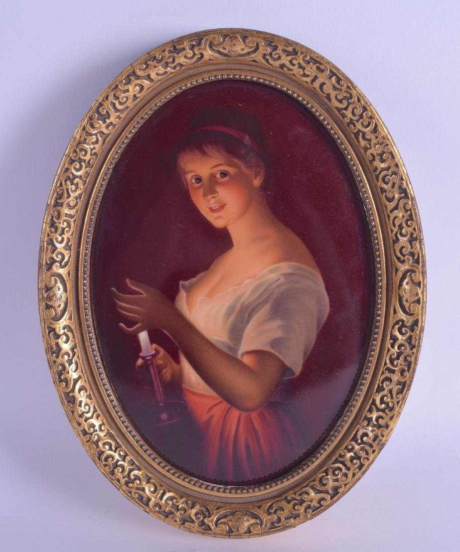 A LATE 19TH CENTURY GERMAN PORCELAIN CABINET PLAQUE