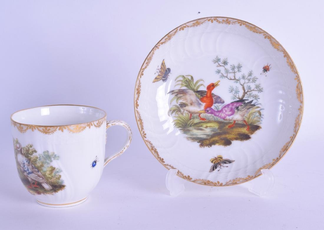 A 19TH CENTURY GERMAN KPM BERLIN PORCELAIN CUP AND