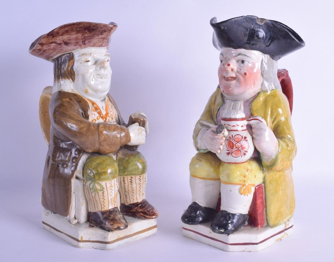 A PAIR OF EARLY 19TH CENTURY ENGLISH PEARLWARE
