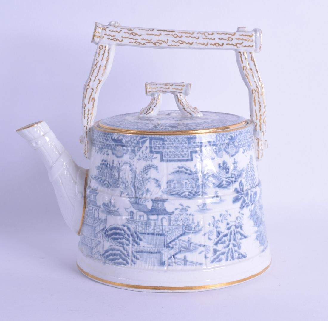 A 19TH CENTURY WORCESTER AESTHETIC MOVEMENT TEAPOT AND