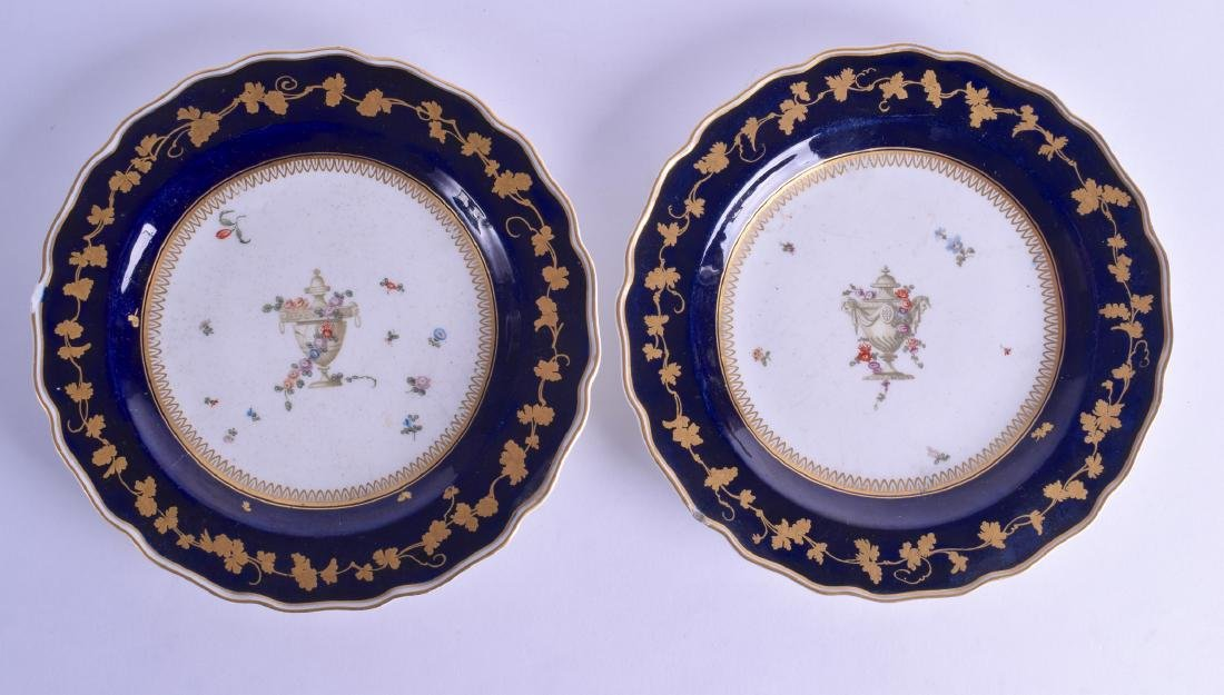 A PAIR OF 18TH CENTURY CHELSEA GOLD ANCHOR PERIOD