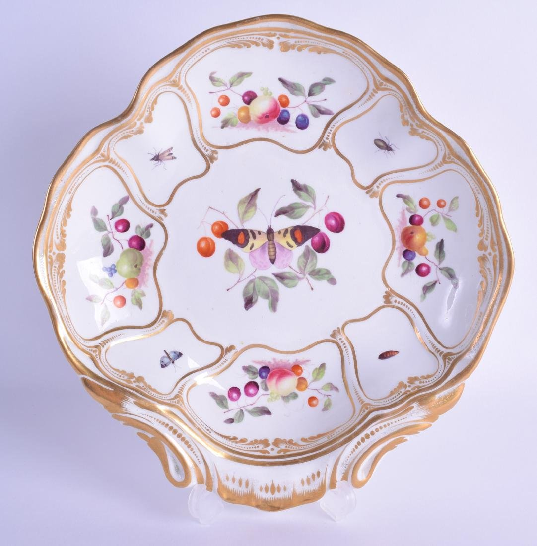 Early 19th c. Derby shell shaped dish painted with