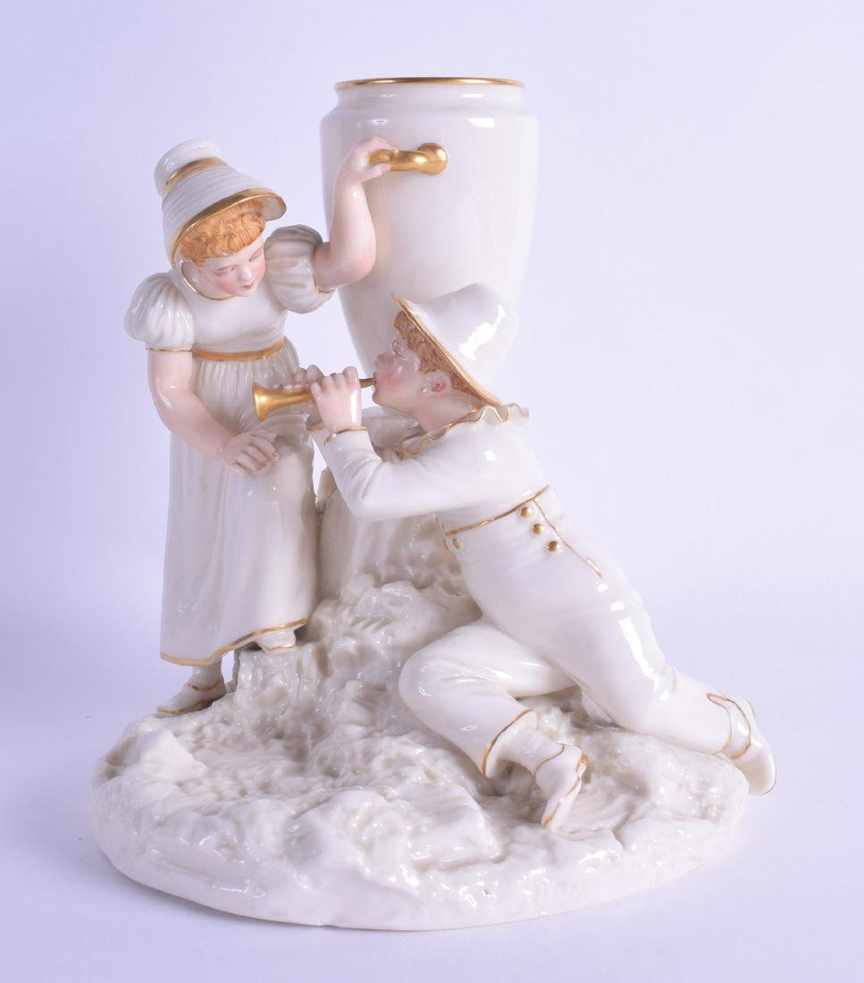 Royal Worcester charming figure group of two children