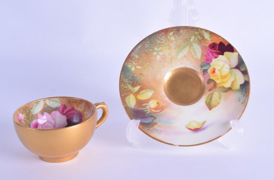 Royal Worcester full demi-tasse teacup and saucer the