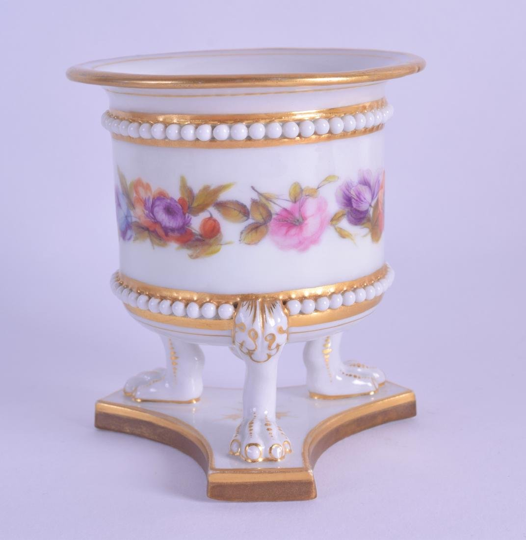 Early 19th c. Flight Barr and Barr three footed vase