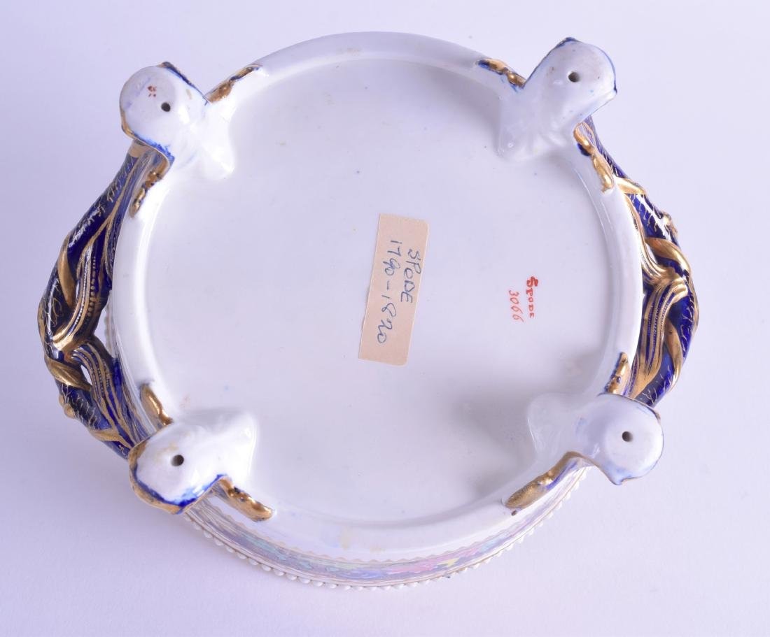 Early 19th c. Spode four footed divided bowl painted - 3