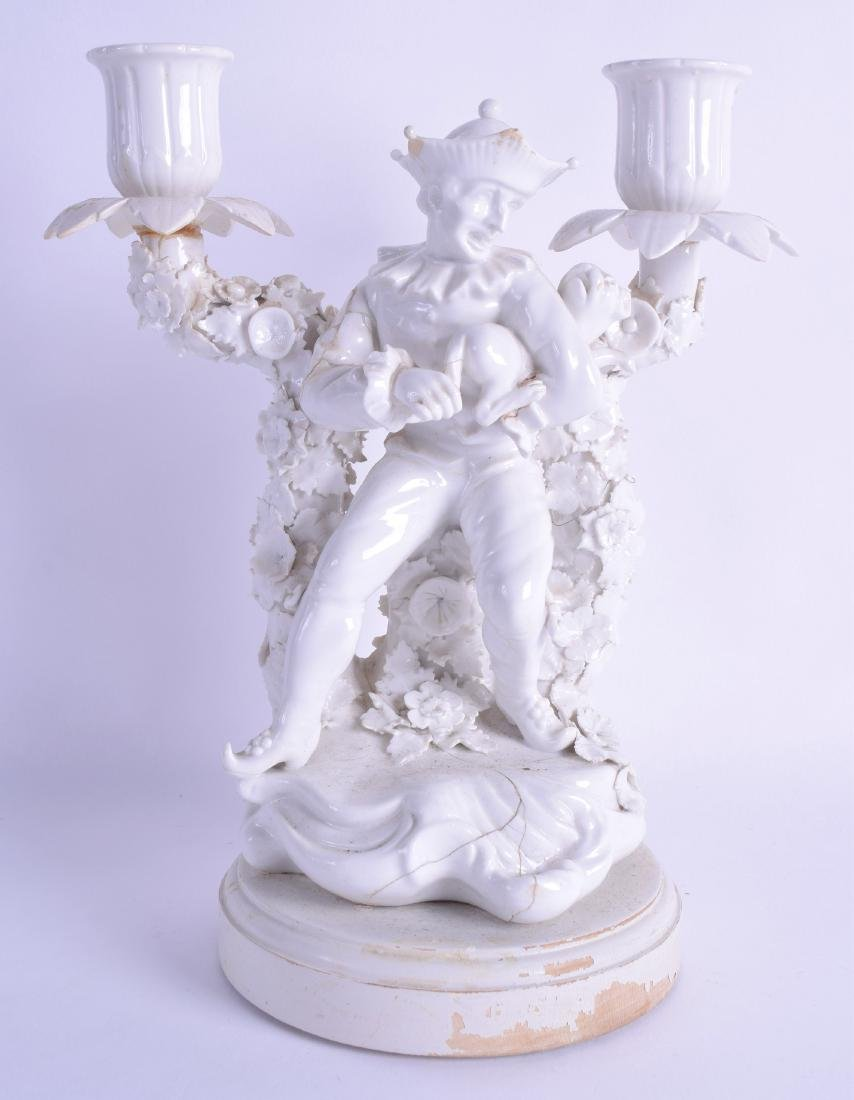 18th/Early 19th century double candlestick of a
