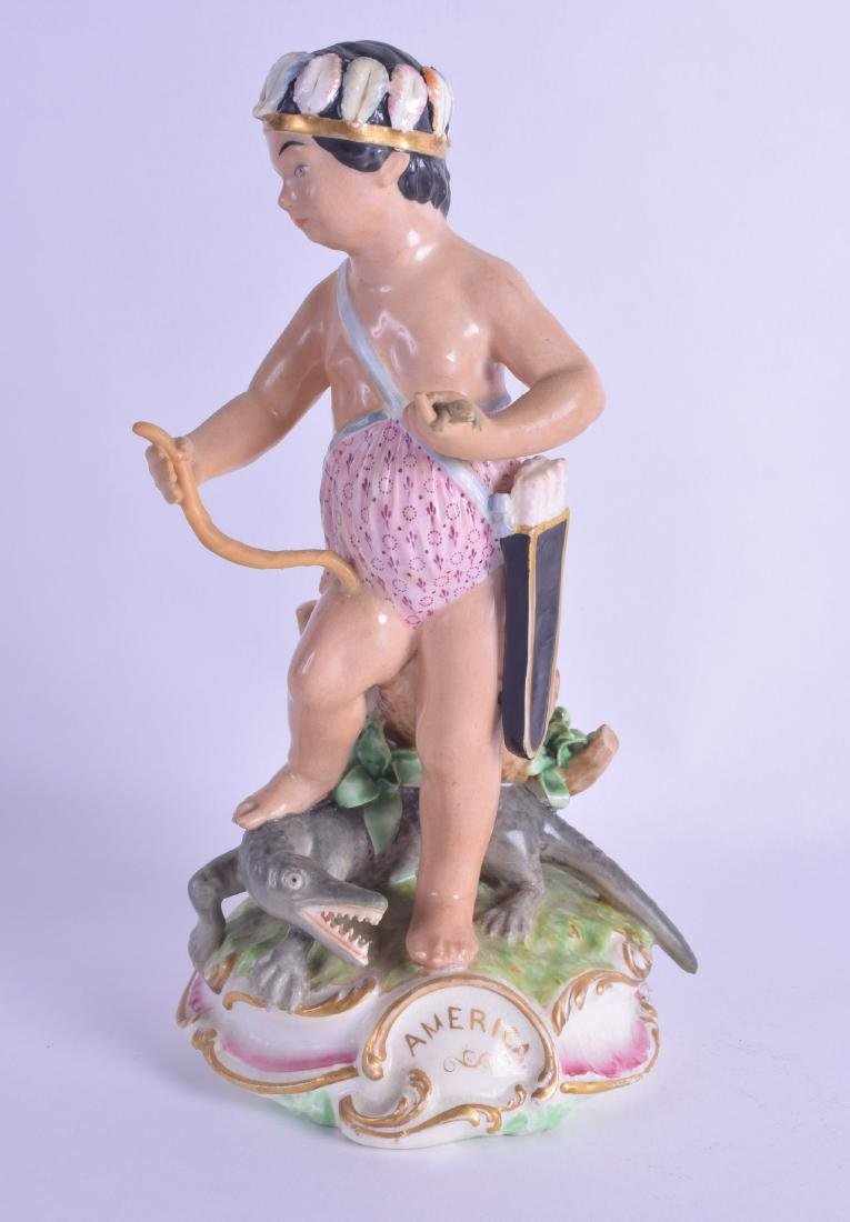 18th/early 19th c. Derby figure of America moulded as a
