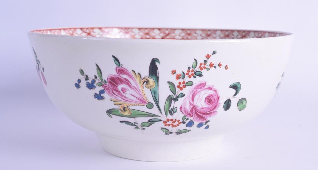 18th c. Liverpool polychrome enamelled bowl painted