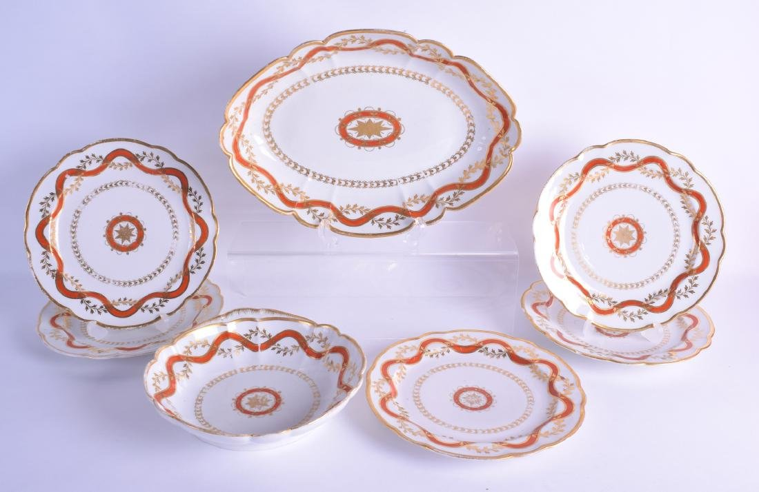 Early 19th c. Flight Barr part dessert service with