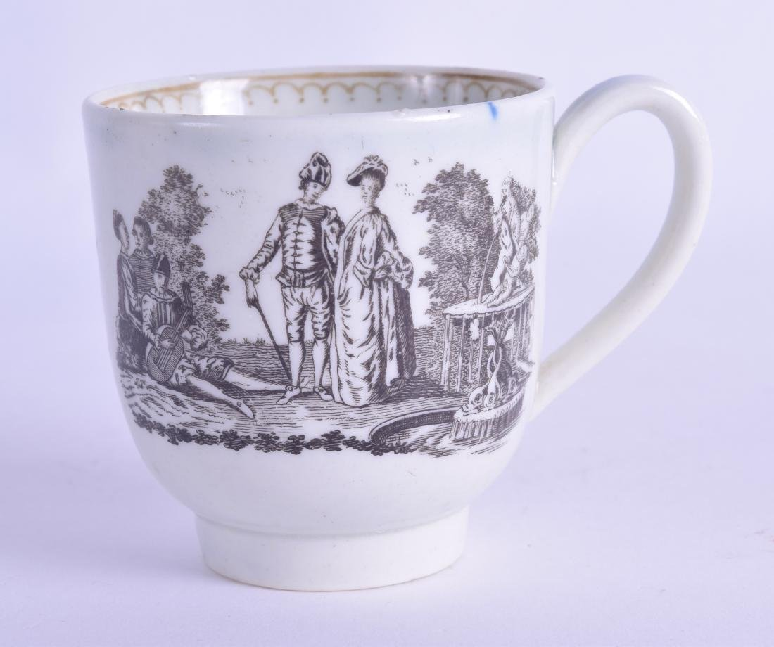 18th c. rare Liverpool coffee cup printed with the