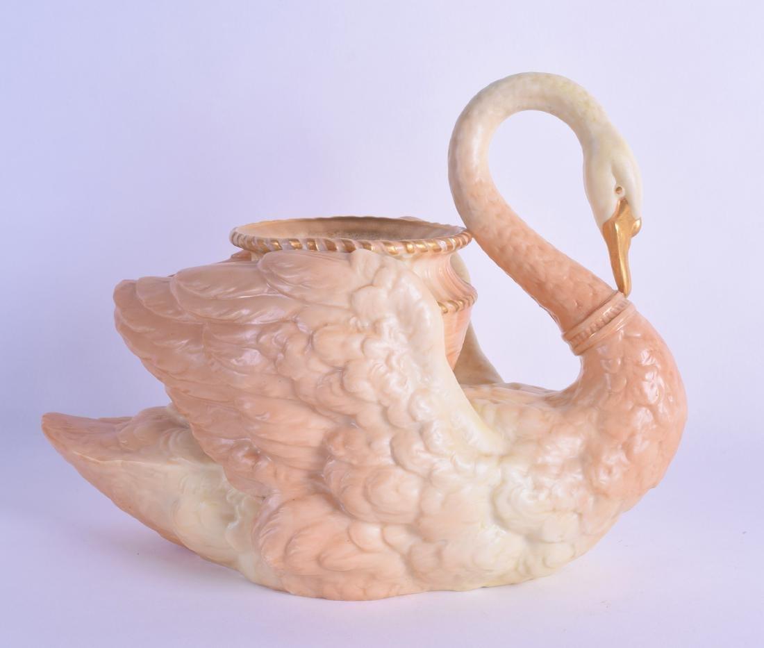 Royal Worcester fine Swan shaped vase model 532 date