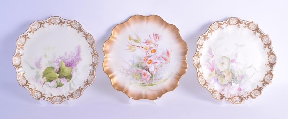 Early 20th c. Doulton Burslem three plates painted