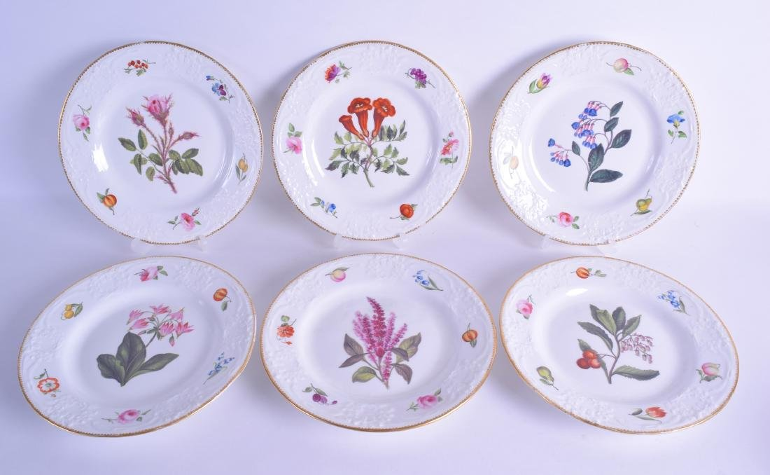 Early 19th c. British set of six porcelain plate