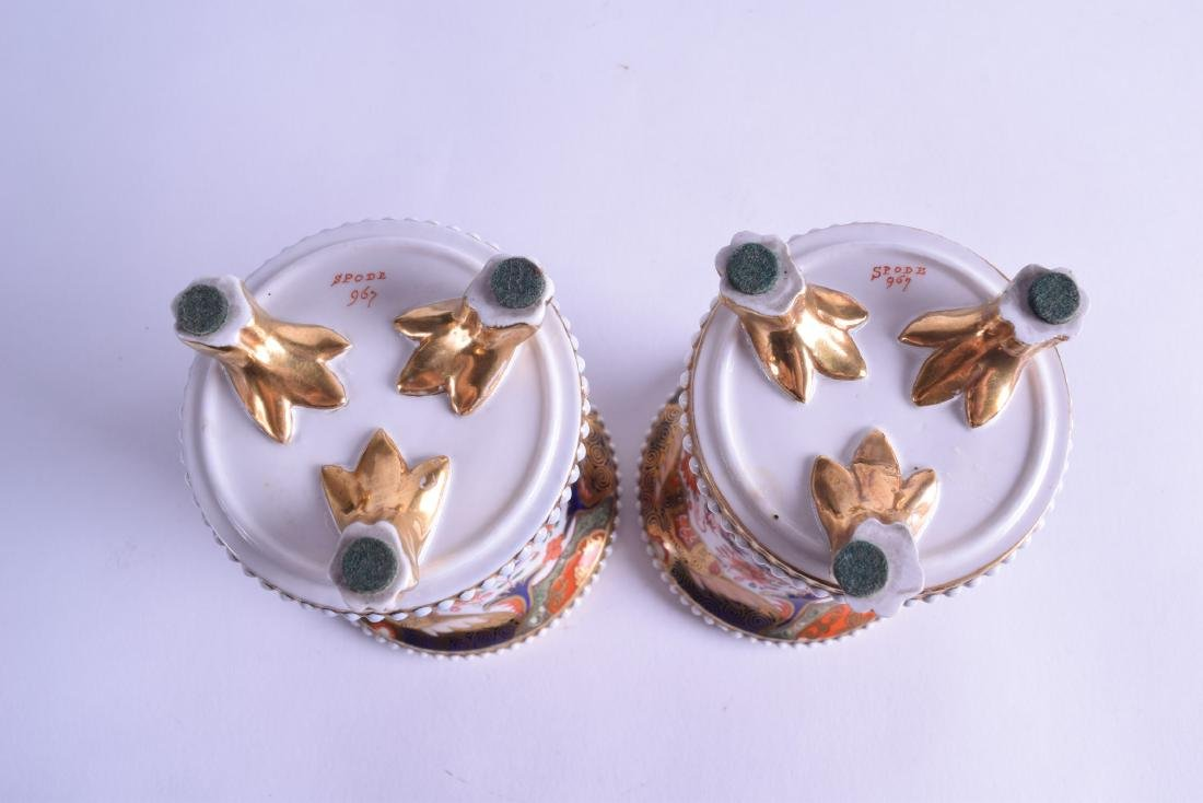 Early 19th c. Spode near pair of spill vases with four - 3