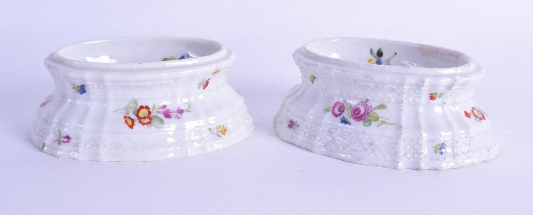 18th c. Volkstadt  pair of flower painted trencher